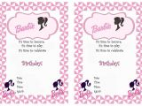 Free Printable Barbie Birthday Party Invitations Barbie Free Printable Birthday Party Invitations