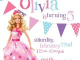 Free Printable Barbie Birthday Party Invitations Barbie theme Birthday Invitation Diy Printable by