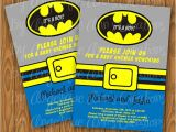 Free Printable Batman Baby Shower Invitations Items Similar to Batman Baby Shower Invitations Diy