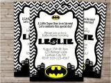 Free Printable Batman Baby Shower Invitations Liz On Etsy