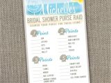 Free Printable Beach theme Bridal Shower Invitations Beach theme Bridal Shower Invitations Beach themed