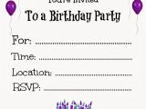 Free Printable Birthday Invitations for Teenage Girl Free Printable Birthday Invitations for Kids