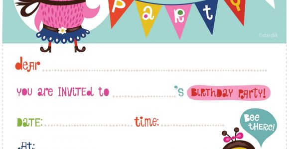 Free Printable Birthday Party Invitations 100 Free Birthday Invitation Templates You Will Love