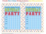 Free Printable Birthday Party Invitations Bnute Productions Free Printable Dots N Stripes Birthday