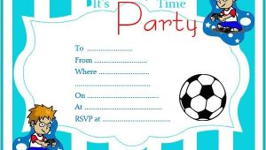Free Printable Birthday Party Invitations for Boys Free Printable Birthday Invitations Random Talks