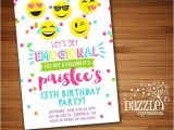 Free Printable Birthday Party Invitations for Tweens Printable Tween Emoji Birthday Invitation Teen Girl or