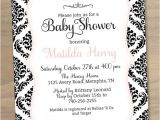 Free Printable Black and White Baby Shower Invitations Black and White Baby Shower Invitations Template