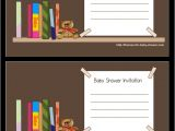 Free Printable Book themed Baby Shower Invitations Free Printable Invitations for Book themed Baby Shower
