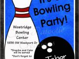 Free Printable Bowling Birthday Party Invitations Bowling Birthday Invitation Printable or Printed Party Invite