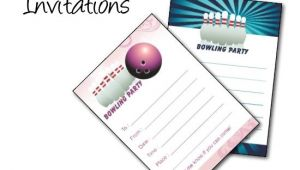 Free Printable Bowling Birthday Party Invitations Bowling Birthday Party Invitations