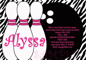 Free Printable Bowling Party Invitations for Kids Birthday Invitations Bowling Party Invitations Templates
