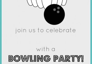 Free Printable Bowling Party Invitations for Kids Bowling Birthday Party Free Invitation Party Printables