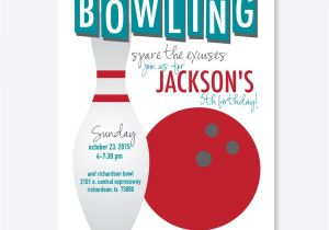 Free Printable Bowling Party Invitations for Kids Kids Bowling Party Invitations
