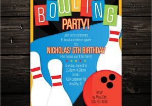 Free Printable Bowling Party Invitations for Kids Printable Bowling Invitation Retro Bowling Birthday Party