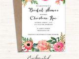 Free Printable Bridal Shower Invitations Vintage Printable Bridal Shower Invitation Printable Rustic
