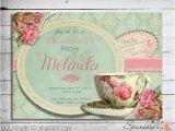 Free Printable Bridal Shower Invitations Vintage Vintage Tea Cup Bridal Shower Baby Shower Birthday