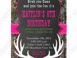 Free Printable Camo Birthday Invitations Camo Girl Printable Invitation Hunting Realtree Diy