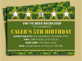 Free Printable Camo Birthday Invitations Camouflage Birthday Invitation Printable or Printed with
