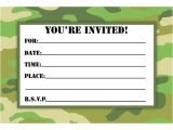 Free Printable Camo Birthday Invitations Camouflage Birthday Invitations Printable Free Download