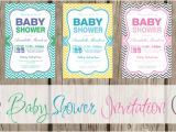 Free Printable Chevron Baby Shower Invitations Free Printable Chevron Baby Shower Invitations