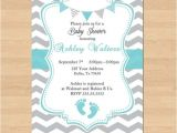 Free Printable Chevron Baby Shower Invitations Printable Baby Shower Blue Grey Chevron Birthday Party