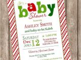 Free Printable Christmas Baby Shower Invitations Christmas Baby Shower Invitation Candy Cane Stripe Baby