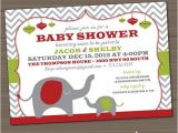 Free Printable Christmas Baby Shower Invitations Christmas Baby Shower Invitation Elephant Red Green