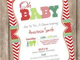Free Printable Christmas Baby Shower Invitations Items Similar to Oh Baby Christmas Baby Shower Invitation