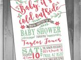 Free Printable Christmas Baby Shower Invitations Winter Baby Shower Invitation Christmas Baby Shower Printable