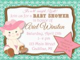 Free Printable Cowgirl Baby Shower Invitations Cowgirl Baby Shower Invitations