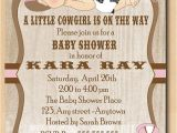 Free Printable Cowgirl Baby Shower Invitations Cute Cowgirl Baby Shower Invitation Baby with Pink