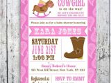 Free Printable Cowgirl Baby Shower Invitations Lil Cowgirl Baby Shower Invitation Custom Printable