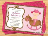 Free Printable Cowgirl Baby Shower Invitations Western Cowgirl Baby Shower Invitation 5×7 by eventfulcards