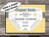 Free Printable Diaper Party Invitation Templates Diaper Party Invitations Printable