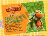 Free Printable Dinosaur Train Birthday Invitations Dinosaur Train Birthday Invitation Printable by