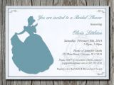 Free Printable Disney Bridal Shower Invitations Disney S Cinderella Bridal Shower Invitation by Pegsprints