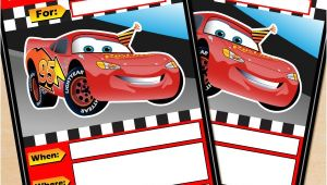 Free Printable Disney Cars Birthday Party Invitations Free Printable Disney Cars Lightning Mcqueen Birthday