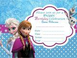 Free Printable Disney Frozen Birthday Invitations Disney Frozen Birthday Party Invitation Template