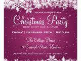 """Free Printable Elegant Christmas Party Invitations Elegant Christmas Party Snowflakes 2 Pink 5 25"""" Square"""