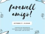 Free Printable Farewell Party Invitations Skyblue Paperplanes Farewell Party Invitation Templates