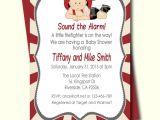 Free Printable Firefighter Baby Shower Invitations Firefighter Baby Shower Invitation Fireman Baby Shower