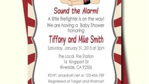 Free Printable Firefighter Baby Shower Invitations Firefighter Baby Shower Invitation Fireman Baby Shower