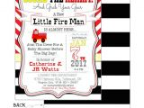 Free Printable Firefighter Baby Shower Invitations Fireman Party Baby Shower Invitation Custom Printable Pdf