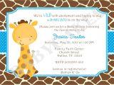 Free Printable Giraffe Baby Shower Invitations Baby Shower Invitations Giraffe theme
