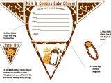 Free Printable Giraffe Baby Shower Invitations Boy Diaper Baby Shower Invitations