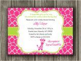 Free Printable Giraffe Baby Shower Invitations Pink and Green Giraffe Baby Shower Invitation Printable