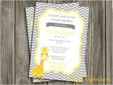 Free Printable Giraffe Baby Shower Invitations Printable Giraffe Baby Shower Invitation