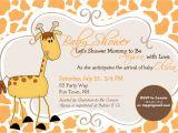 Free Printable Giraffe Baby Shower Invitations Templates Giraffe Baby Shower Invitation Girl by asyouwishcreations4u