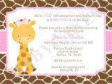 Free Printable Giraffe Baby Shower Invitations Templates Girl Giraffe Baby Shower Invitation Invite Giraffe Invitation