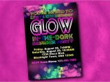 Free Printable Glow In the Dark Birthday Party Invitations Create Easy Glow In the Dark Party Invitations Free